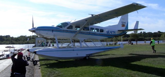 Sightseeing flight by seaplane at Biscarrosse