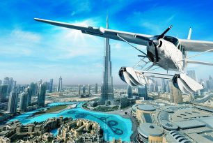 Seaplane sightseeing over Dubai
