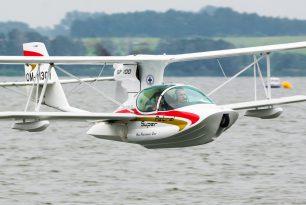 6 seaplanes at Mazury Airshow