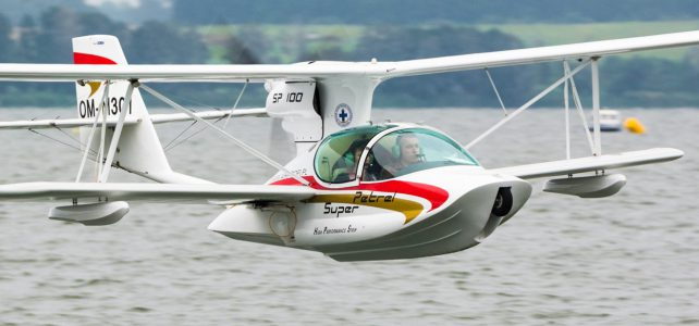 6 seaplanes at Mazury Airshow