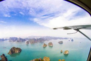 Halong Bay seaplane flight