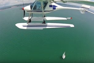 Seaplane videos in the summer cucumber season