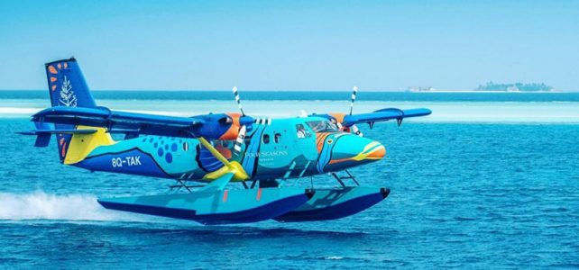 Flying Triggerfish seaplane on Maldives Islands