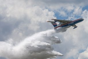 Beriev and Viking Air firefighter seaplanes in Paris Airshow