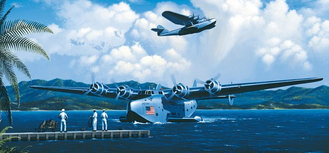 PanAm clippers in Golden Age of the seaplane flight