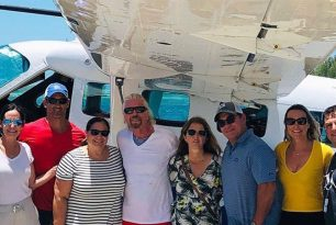 Sir Richard Branson flew as a seaplane guest pilot