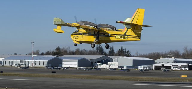 Viking CL-415EAF Enhanced Aerial Firefighter seaplane inaugural flight